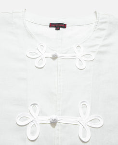 Linen Chinese L/S Shirt (White)