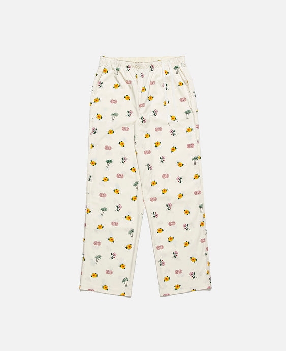 Overall Print Pajama Pants (Off White)