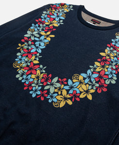 Flower Lei Sweater (Blue)
