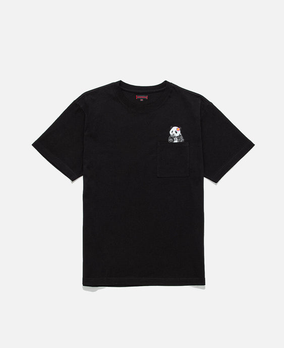 Panda Pocket T-Shirt (Black)