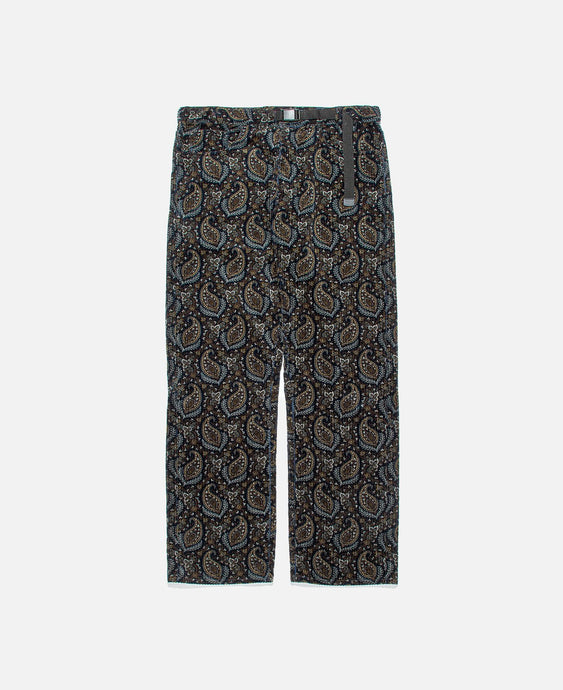 Printed Wide Leg Pants (Navy)