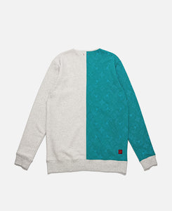 All Over Print Sweat Jacket (Green)
