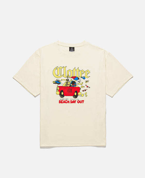 Beach Day Out S/S T-Shirt (Cream)