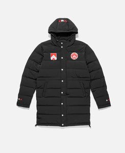 Badge Long Down Puffer Jacket (Black)