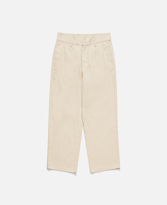 Basic Text Chinos (Cream)