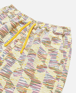 Drawstring Hem Jacquard Trackpants (Yellow)
