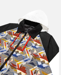 Jacquard Colorblock Jacket (Black)