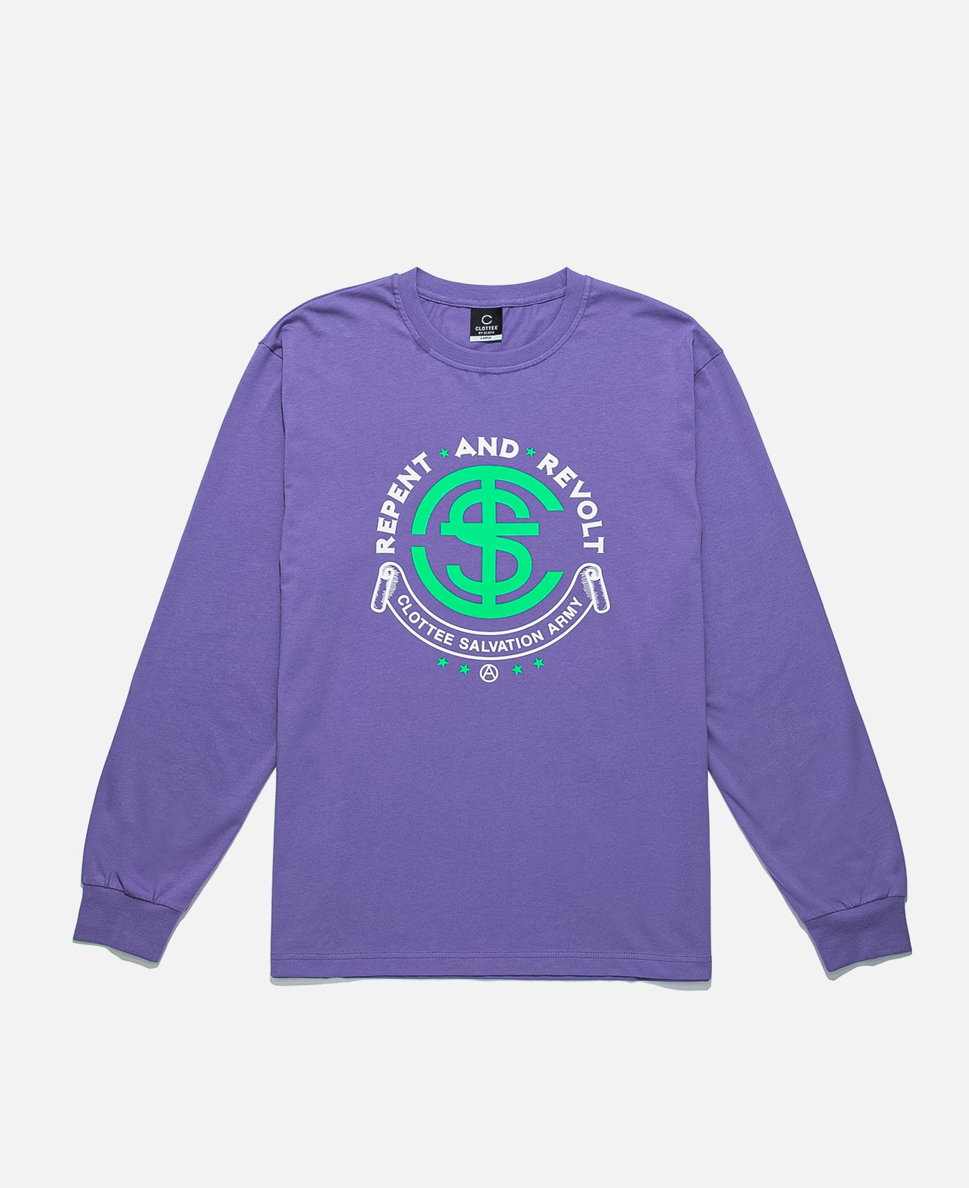 Repent And Revolt L/S T-Shirt (Purple)