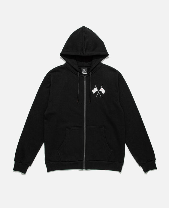 Repent And Revolt Zip Hoodie (Black)