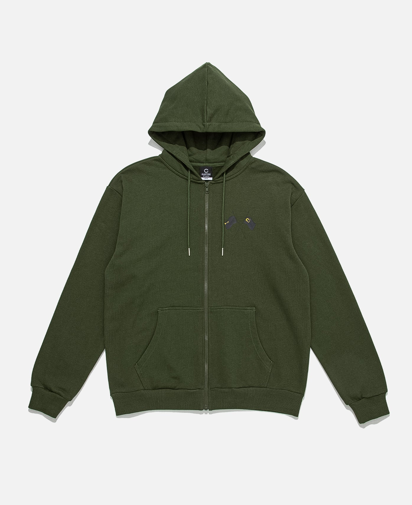 Repent And Revolt Zip Hoodie (Green)