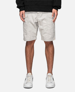 Seamed Chino Shorts (Beige)