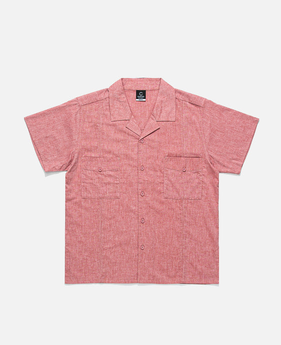 Seamed S/S Shirt (Red)
