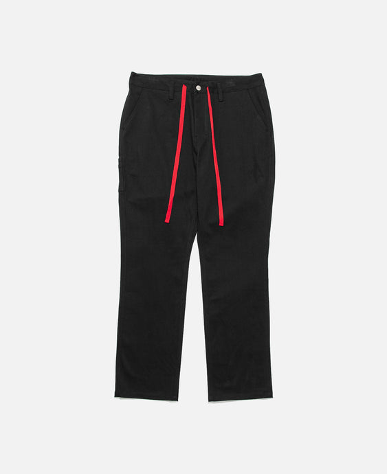 Tapered Drawstring Pants (Black)