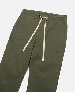 Tapered Drawstring Pants (Green)