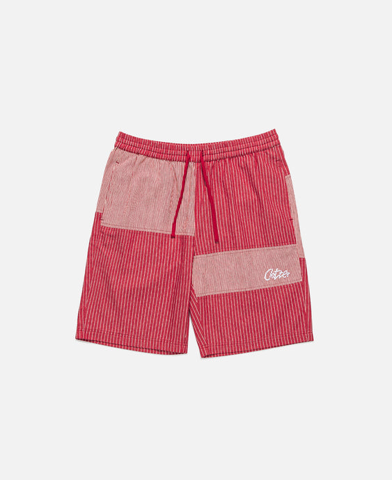 Mixed Stripe Shorts (Red)