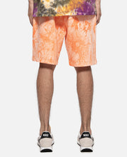 Tie Dye Sweat Shorts (Orange)