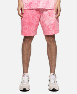 Tie Dye Sweat Shorts (Pink)