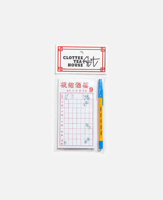 CLOTTEE Stamp Memo Pad (White)