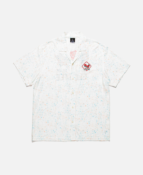 Paint Splatter Shirt (White)