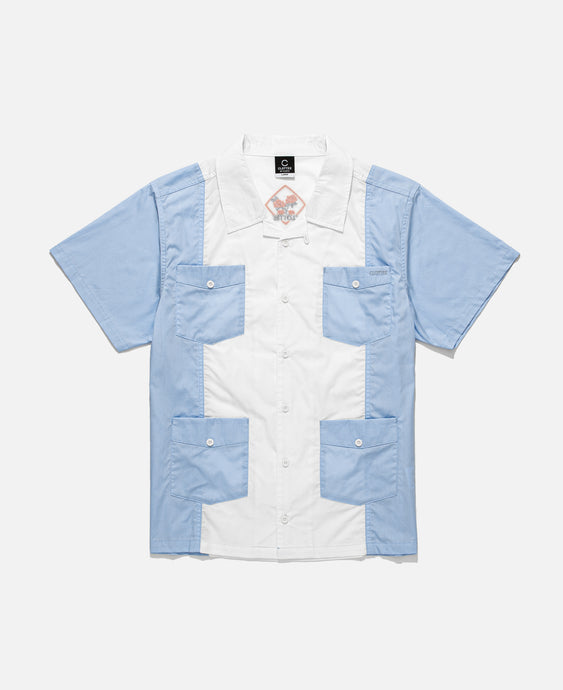 4 Pocket Panel Shirt (Blue)