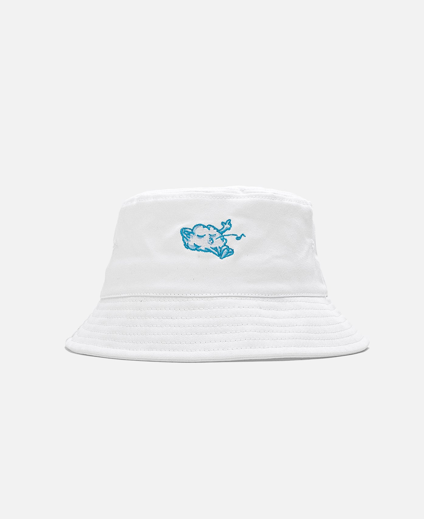 Cozy World Logo Bucket Hat (White)