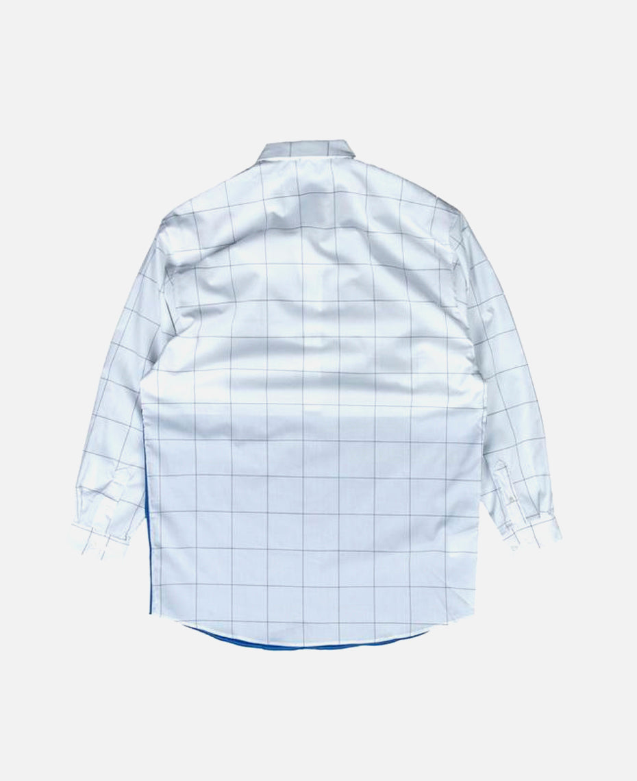 OMBRE HALF MINUTE SHIRT (WHITE)