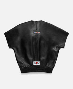 Leather Sweatshirt (Black)