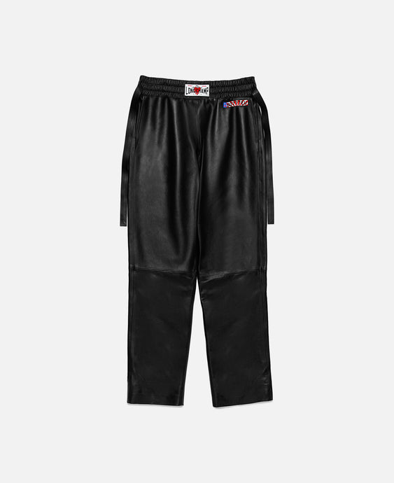 Elasticated Waistband Trousers With High Waistband (Black)
