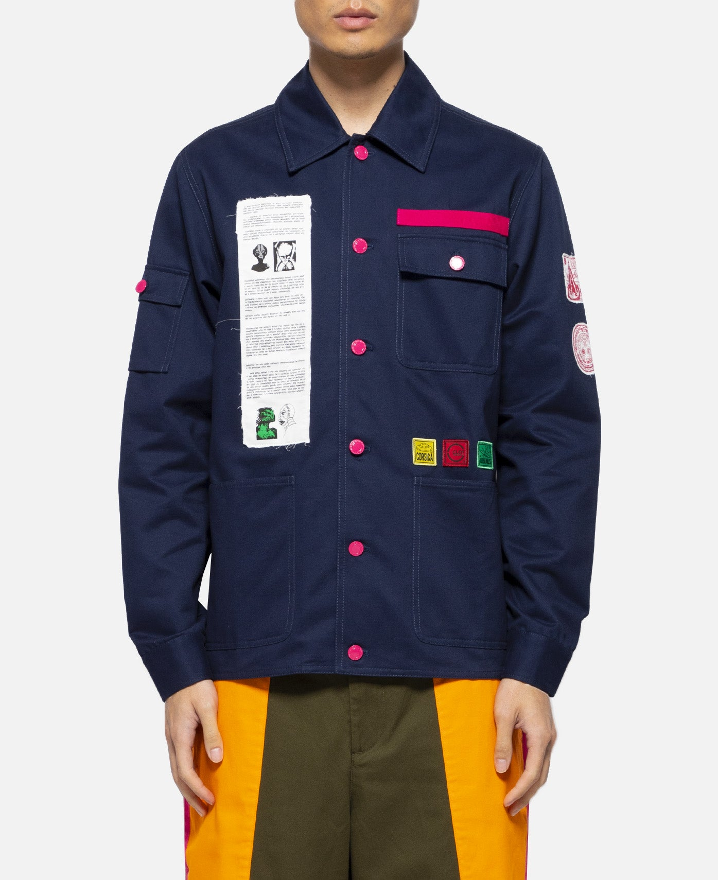 Applique Chore Jacket (Navy)
