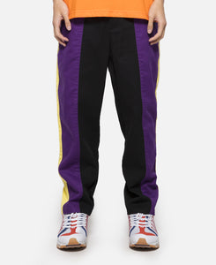 Contrast Color Tapered Pants (Black)