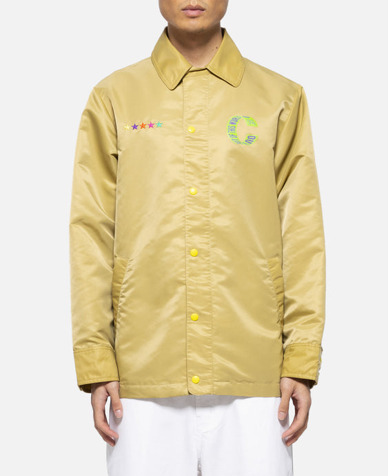 Oversized Coach Jacket (Khaki)