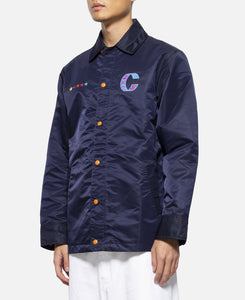 Oversized Coach Jacket (Navy)