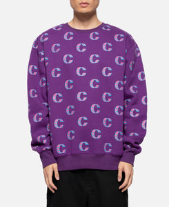 Out Of This World Loop Crewneck Sweat (Purple)