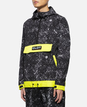 Contrast Color Anorak (Black)
