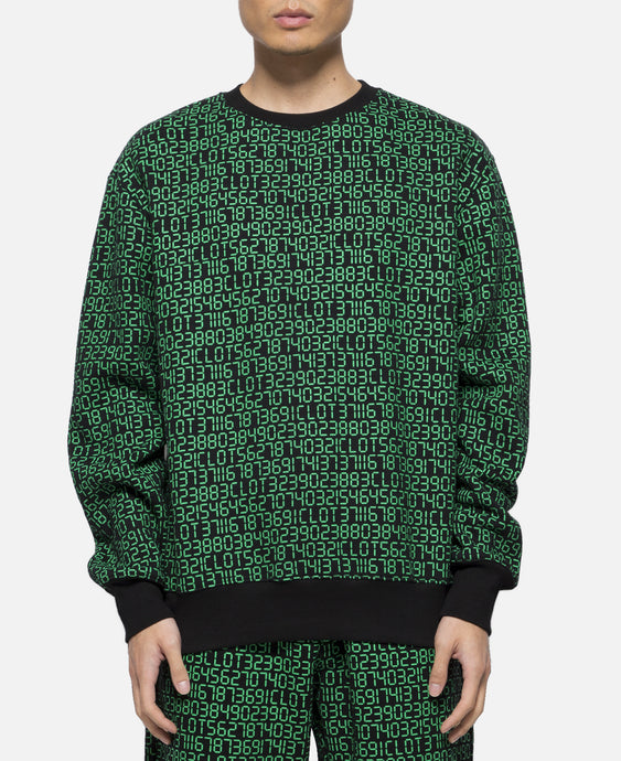 Numbers Print Crewneck Sweater
