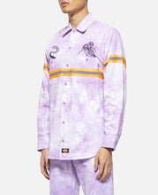 Tie Dye L/S Work Shirt (Purple)