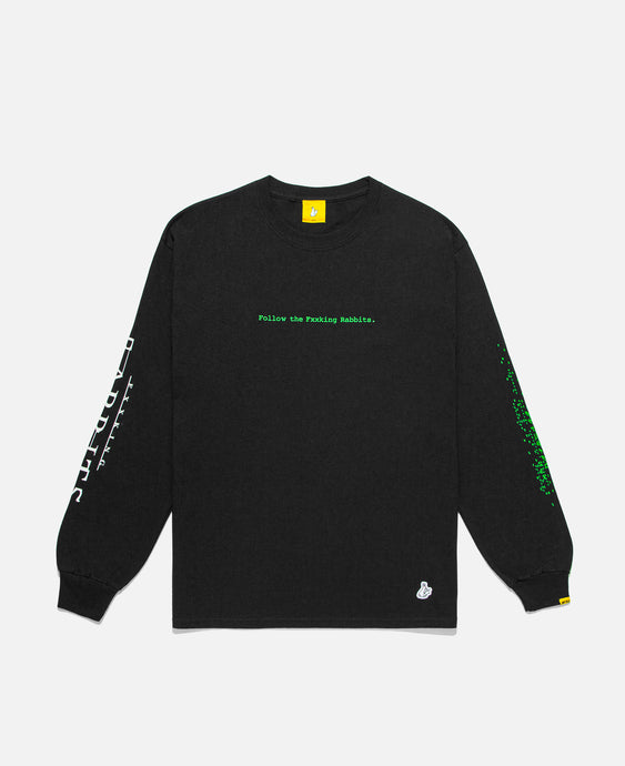 Follow The Fxxking Rabbits L/S T-Shirt (Black)
