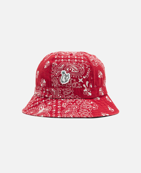 Paisley Bucket Hat (Red)