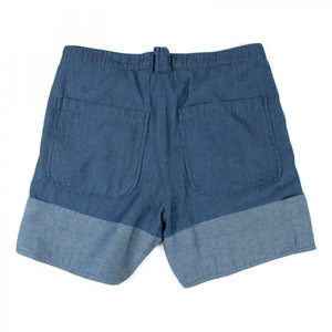 CUFF POCKET SHORTS (BLUE)