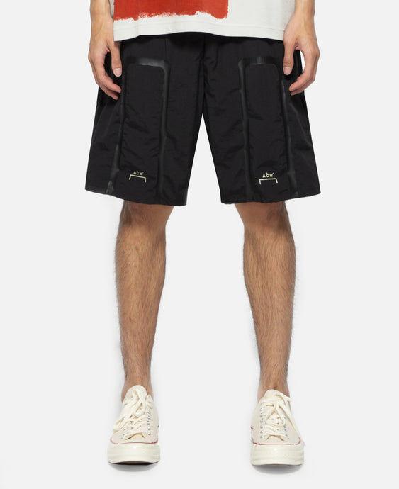 Tonal Print Shorts (Black)