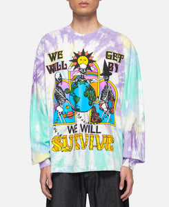 I Will Get By L/S Tie Dye T-Shirt (Multi)