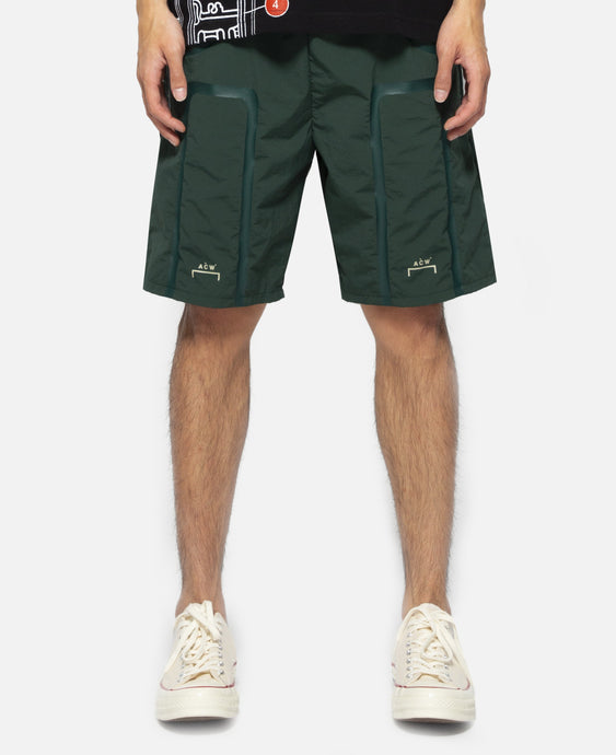 Tonal Print Shorts (Green)