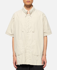 Drawcord Shirt (Beige)