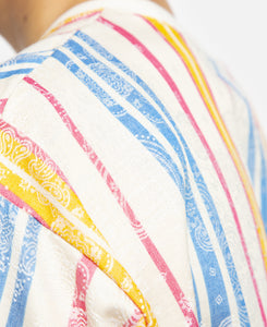 Stripes And Paisley T-Shirt (White)