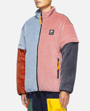 Color Blocked Micro Puffer With Removable Sleeves (Multi)