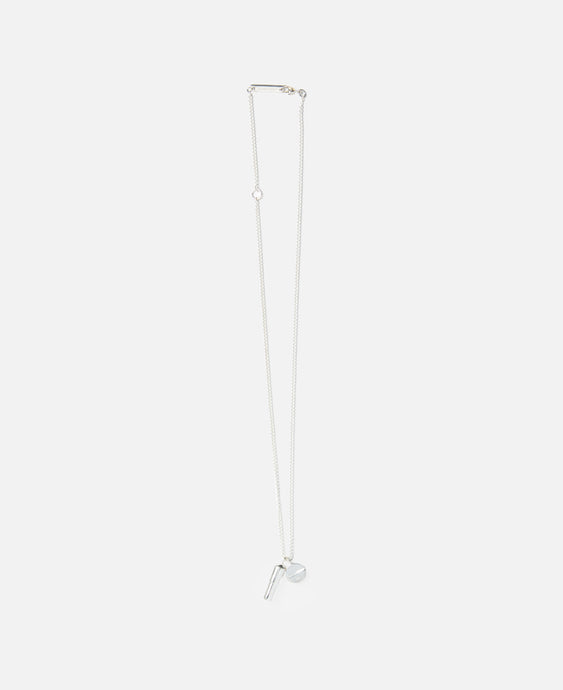 Pill Charm Necklace (Silver)