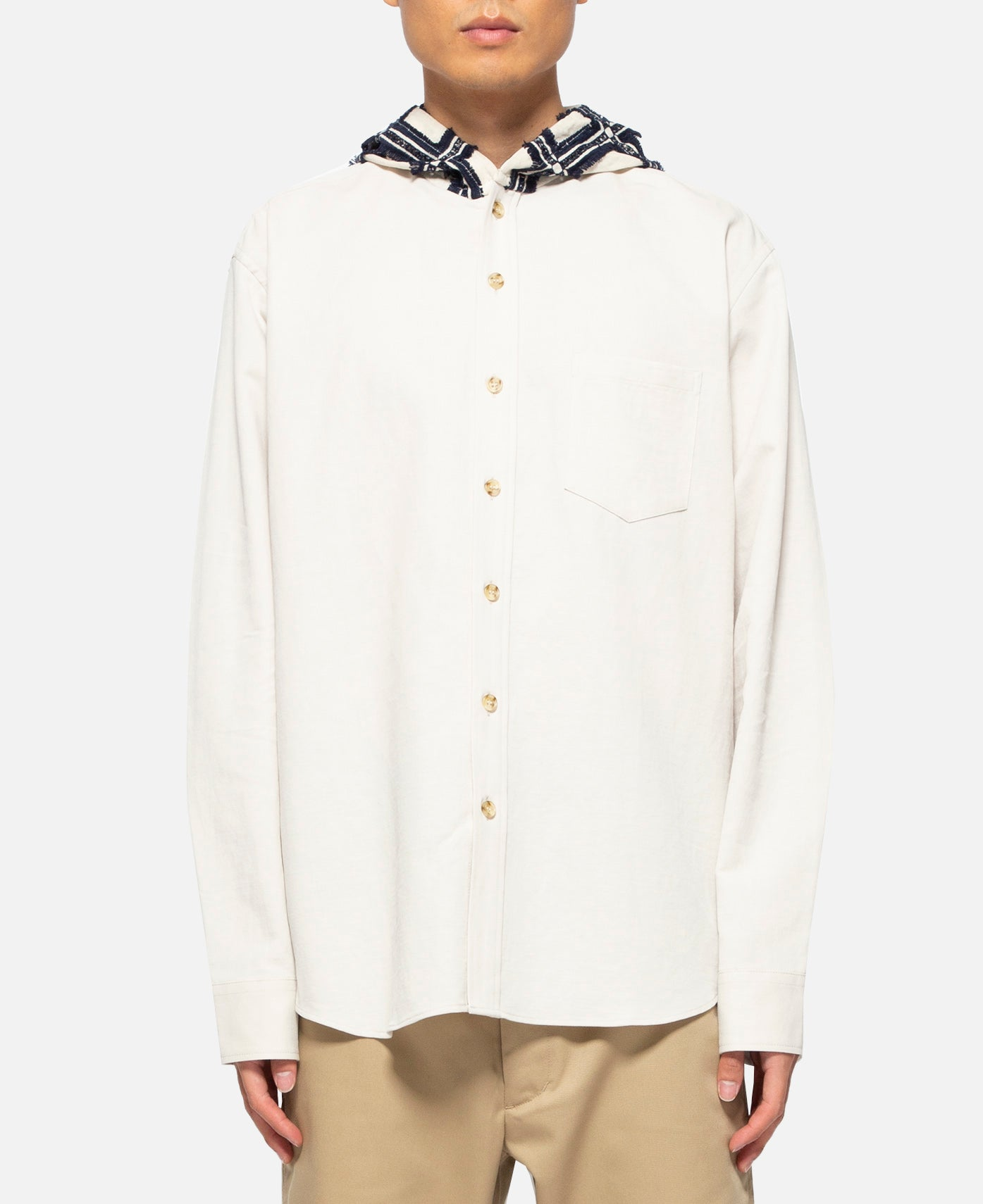 Mohican Hooded L/S Shirt (White)