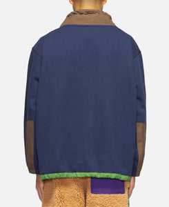 Post Earth Syndrome Scuba Neck Fleece (Navy)