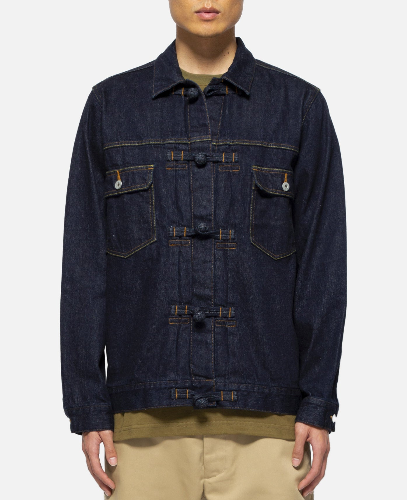 Chinoise Denim Trucker Jacket (Blue)