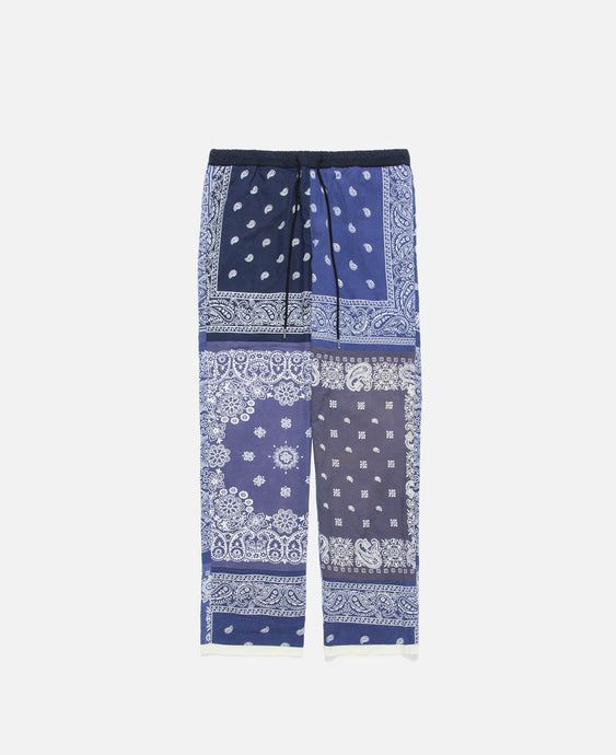 Bandana Patchwork Pants (Navy)